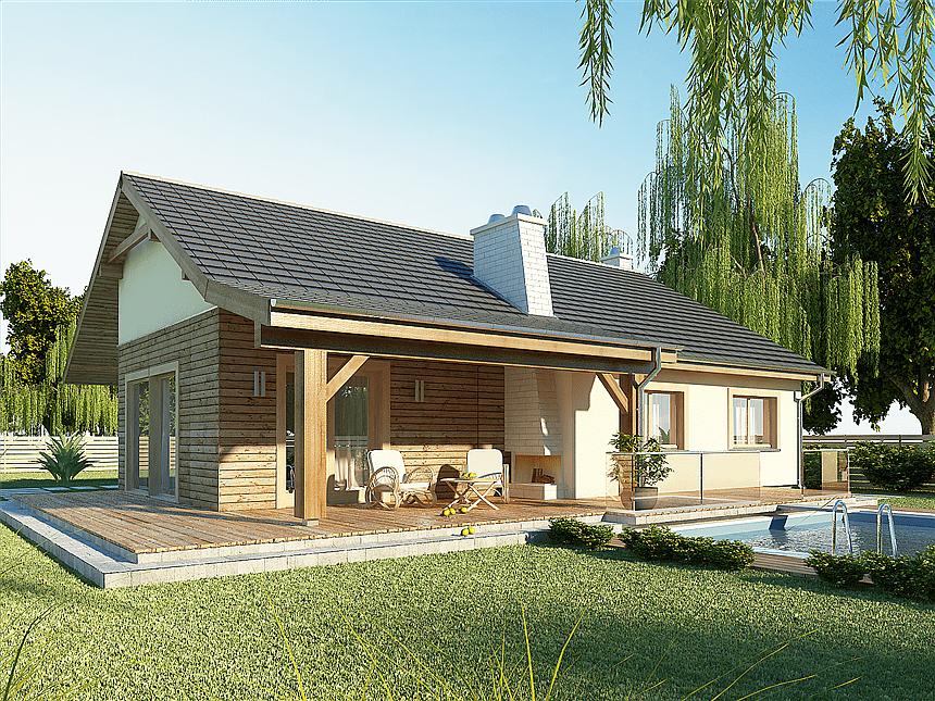 Projekt domu AJR 03 wersja B WOJ10151