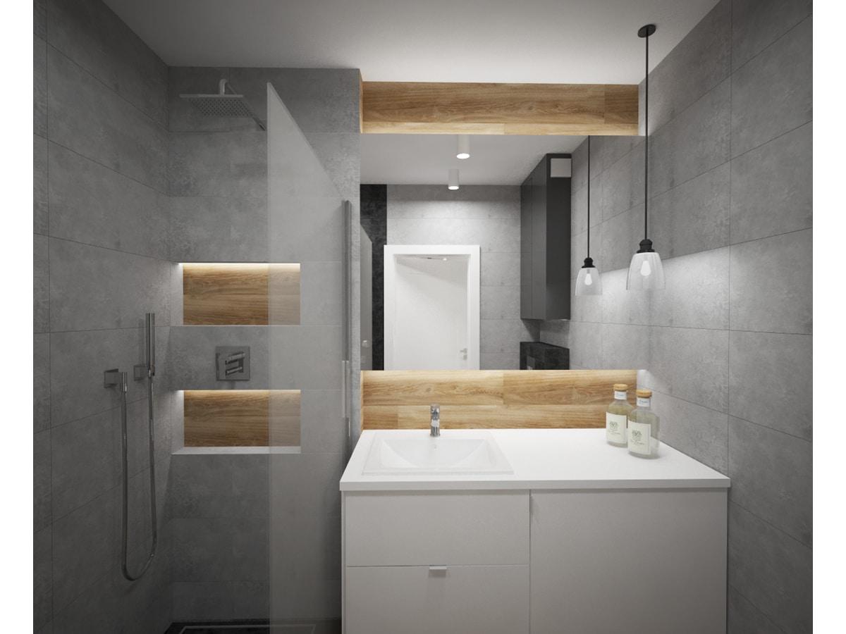 Aranżacje domów jednorodzinnych łazienka