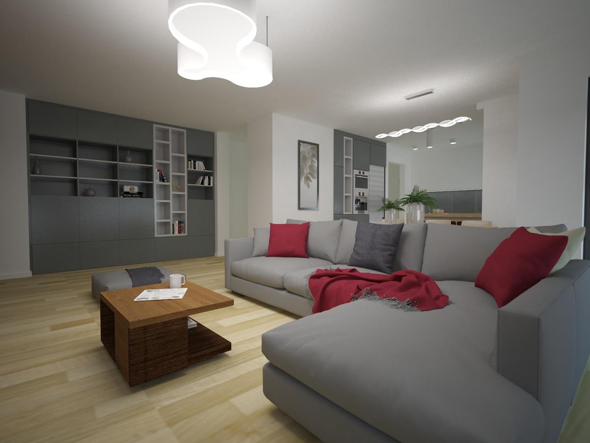 Aranżacje domów jednorodzinnych salon