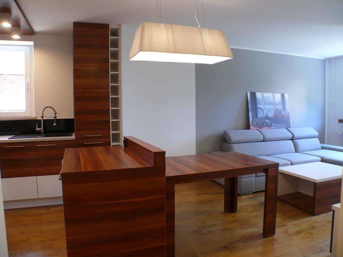 Architekci wnętrz kuchnia z salonem