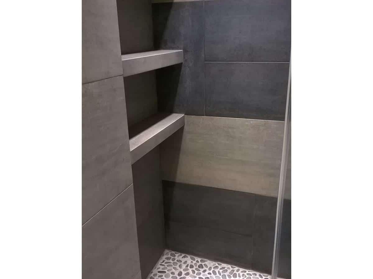 Architekci wnętrz - prysznic bezbrodzikowy projekt z wykonaniem