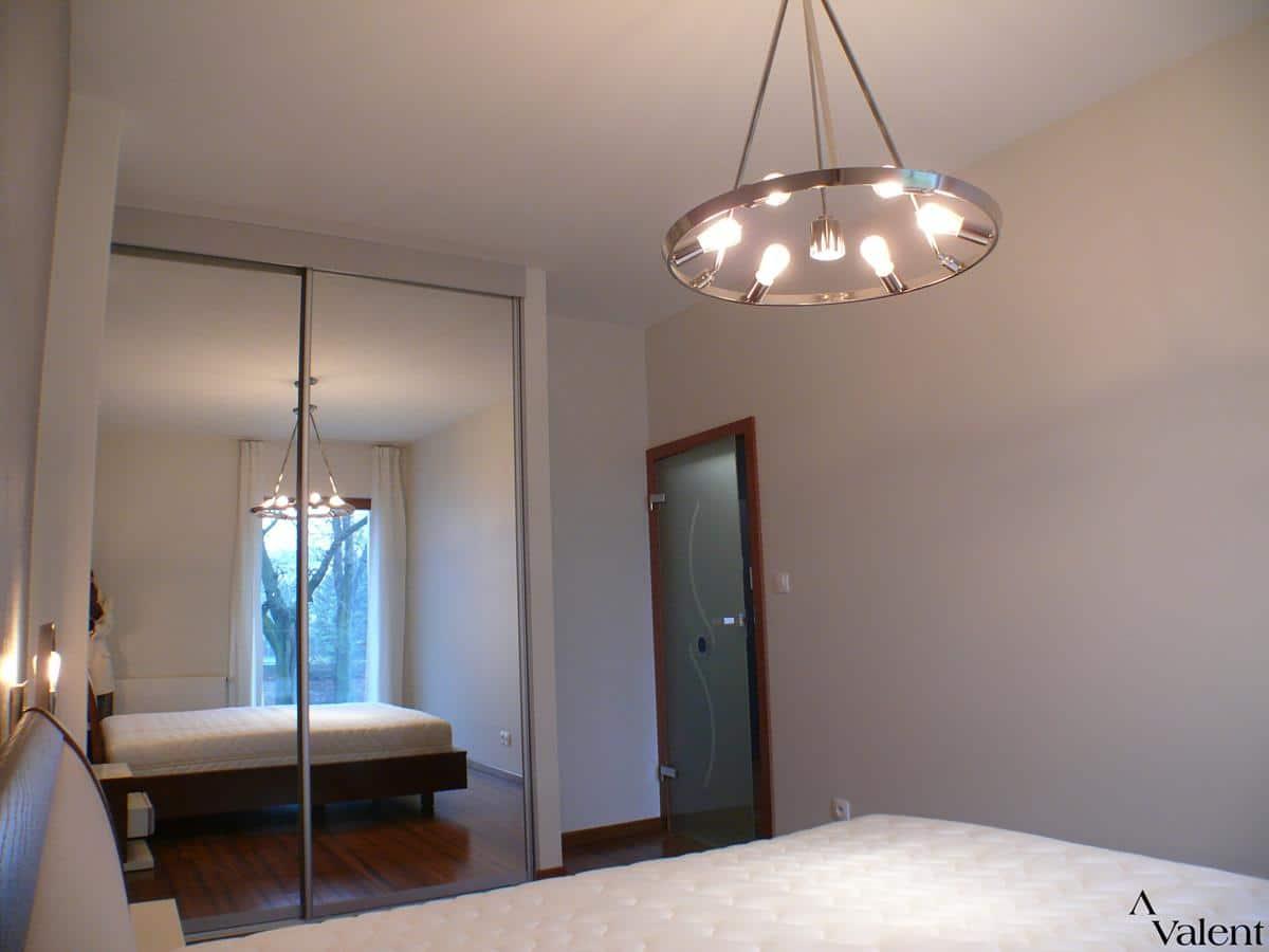 Architekt projektant - sypialnia w apartamencie Kraków