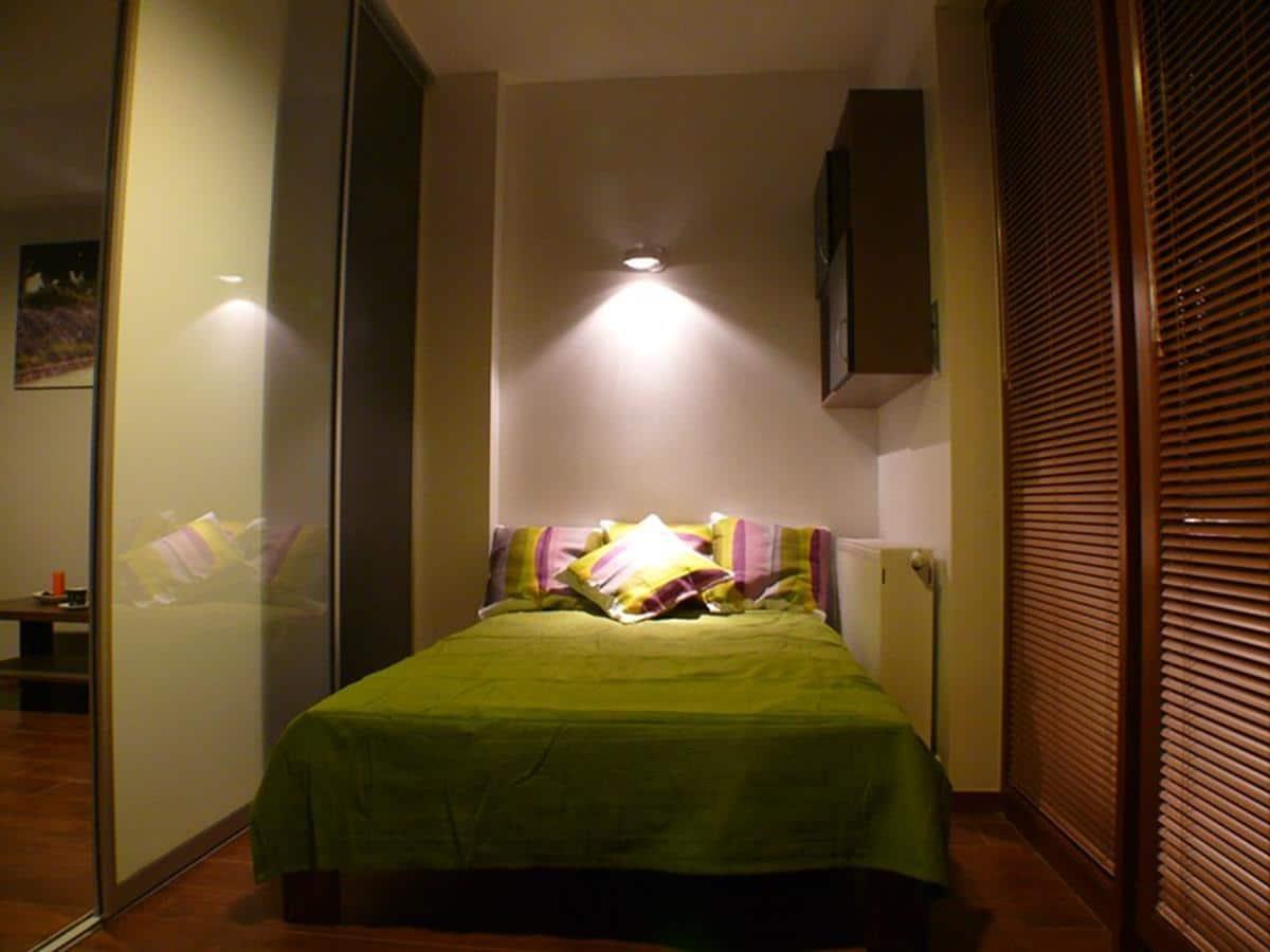 Projekt mieszkania - sypialnia