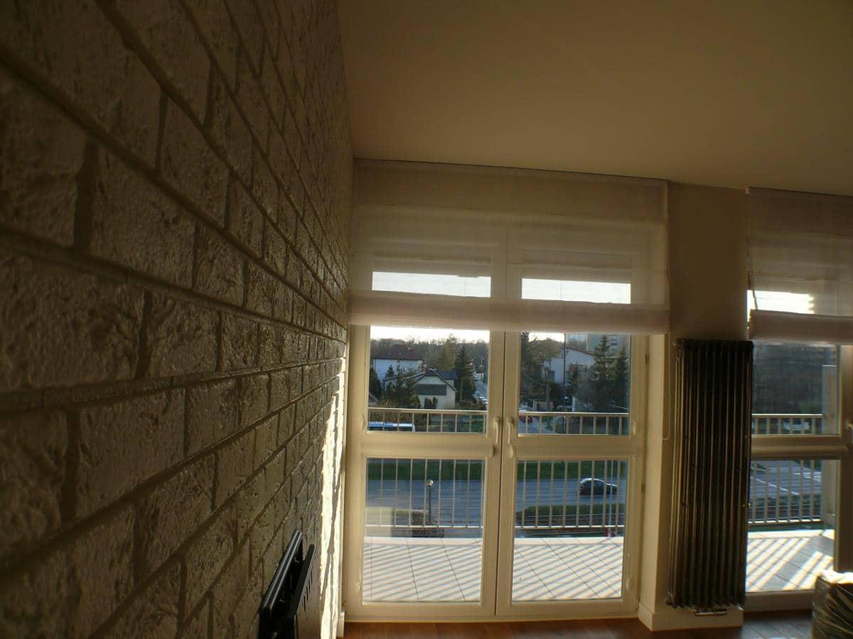 Projekt wnętrz apartamentu z wykonaniem - ściana z cegły