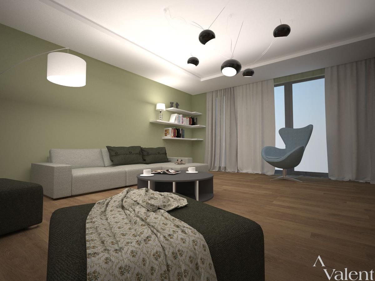 projekty domów z wizualizacją wnętrz salon
