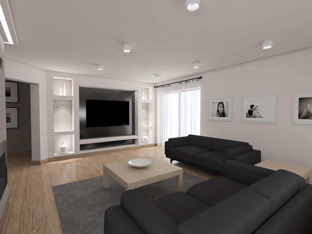 Projekt domu salon