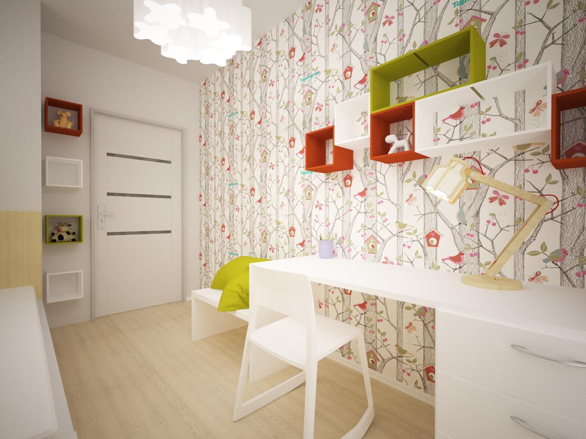 Projekty wnętrz domów jednorodzinnych - pokój dziecka
