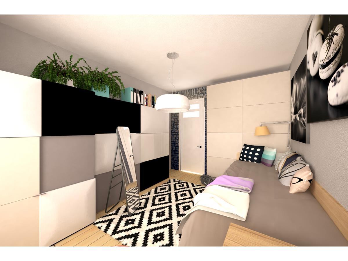 Projekty wnętrz domów jednorodzinnych - pokój nastolatki