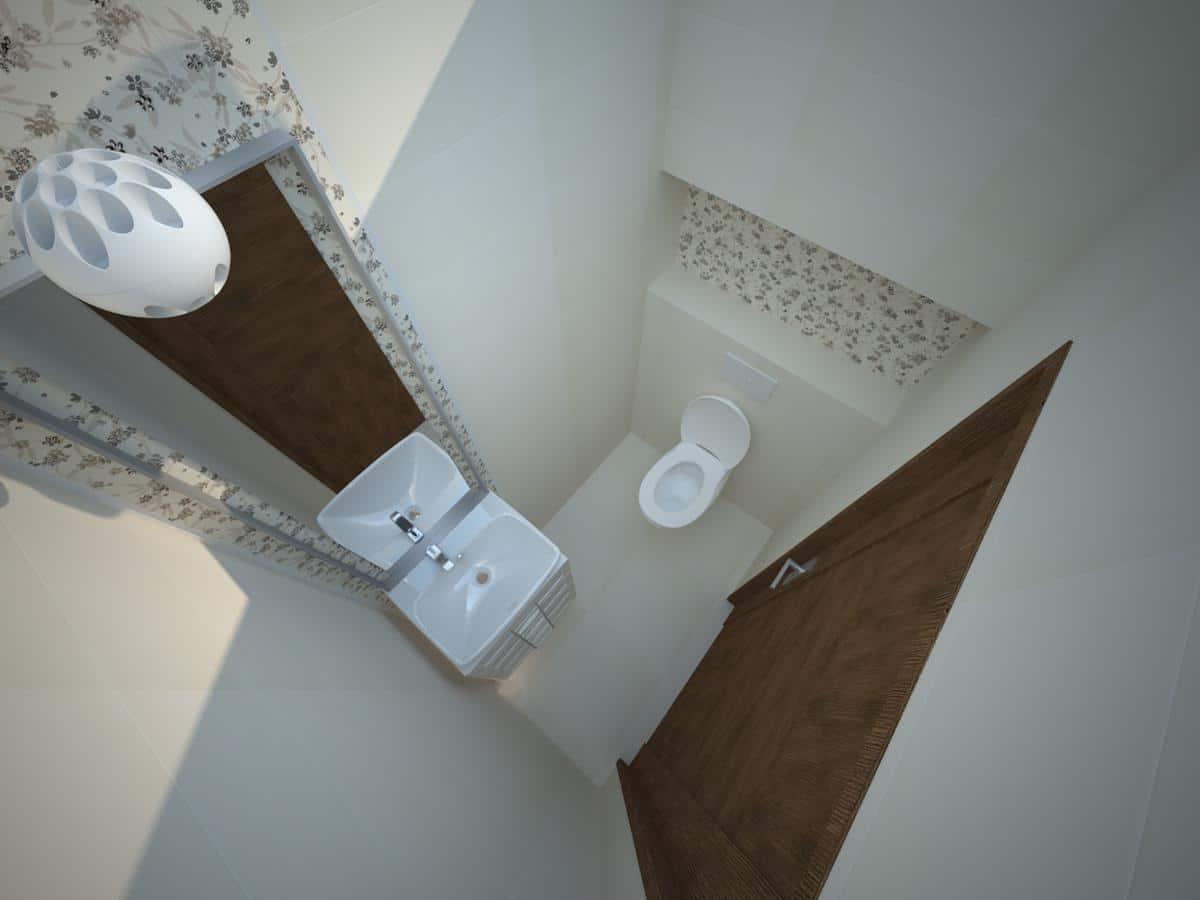 Projekty wnętrz domów jednorodzinnych wc