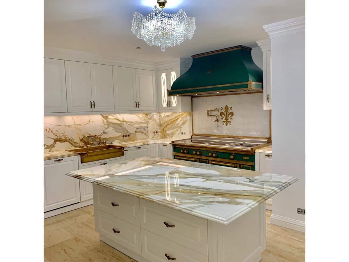 Luksusowe wnętrza rezydencji - projekty wnętrz domów kuchnia