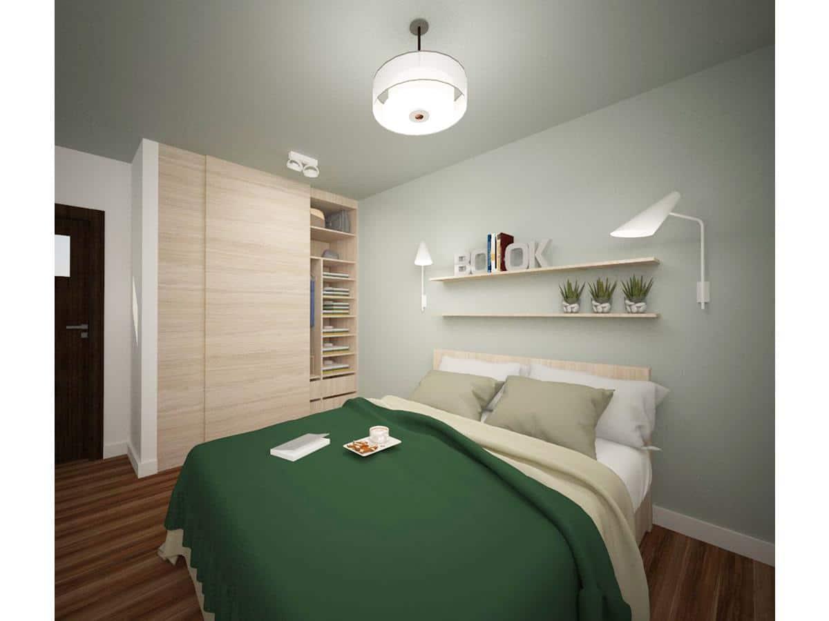 Wizualizacja wnętrza domu sypialnia