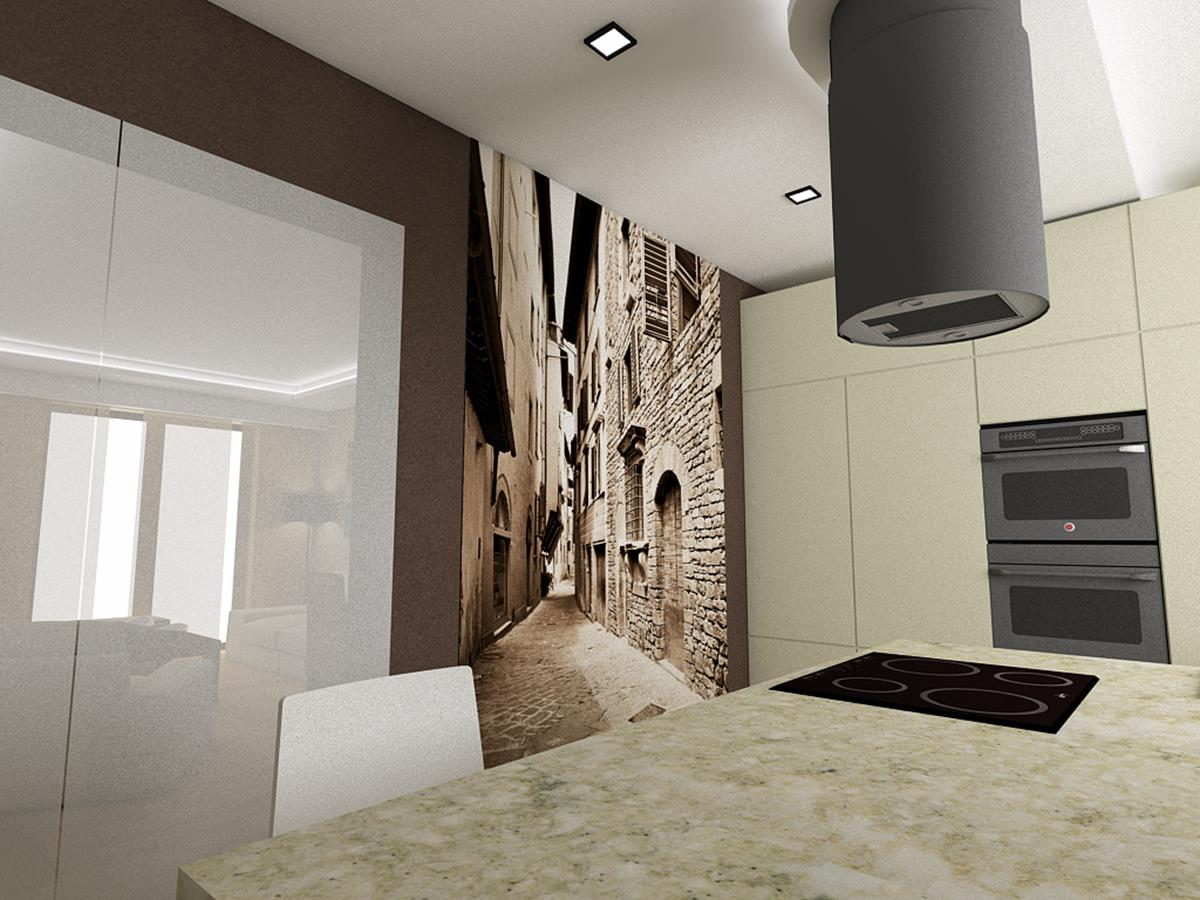 Wnętrza nowoczesnych domów fototapeta