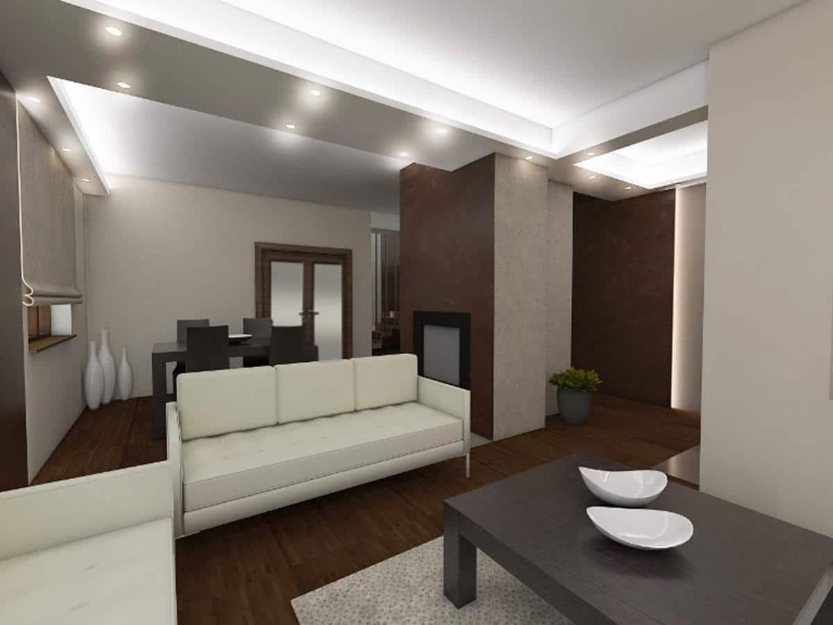 Wnętrza nowoczesnych domów salon