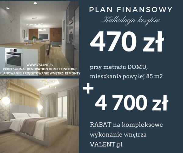 Kosztorys remontu - Plan Finansowy mieszkania lub domu powyżej 85m2 1