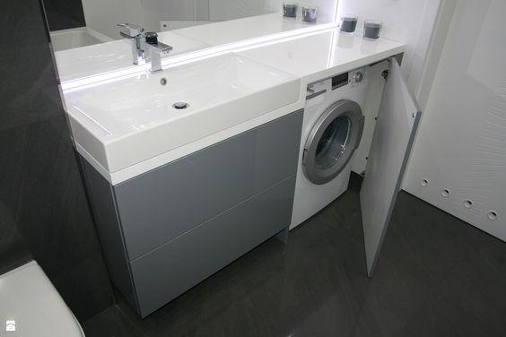 umieszczenie pralki w małej łazience